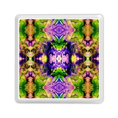 Green,purple Yellow ,goa Pattern Memory Card Reader (square)  by Costasonlineshop