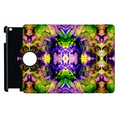 Green,purple Yellow ,goa Pattern Apple Ipad 2 Flip 360 Case by Costasonlineshop