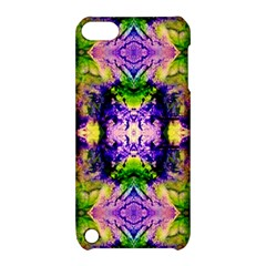 Green,purple Yellow ,goa Pattern Apple Ipod Touch 5 Hardshell Case With Stand by Costasonlineshop
