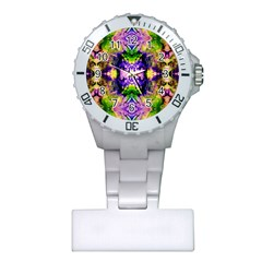 Green,purple Yellow ,goa Pattern Nurses Watches by Costasonlineshop