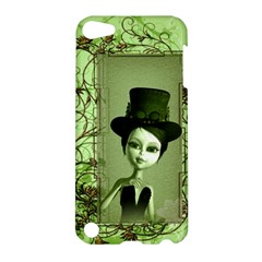 Cute Girl With Steampunk Hat And Floral Elements Apple Ipod Touch 5 Hardshell Case by FantasyWorld7