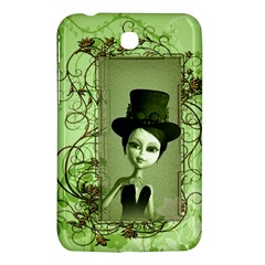 Cute Girl With Steampunk Hat And Floral Elements Samsung Galaxy Tab 3 (7 ) P3200 Hardshell Case  by FantasyWorld7