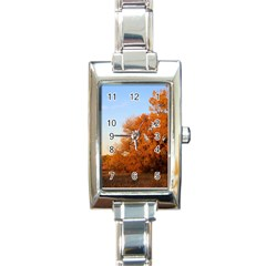 Beautiful Autumn Day Rectangle Italian Charm Watches by trendistuff