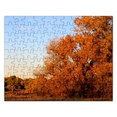 Beautiful Autumn Day Rectangular Jigsaw Puzzl by trendistuff