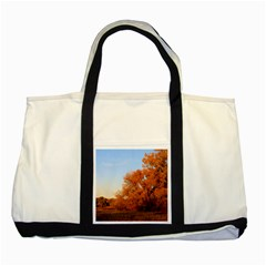 Beautiful Autumn Day Two Tone Tote Bag  by trendistuff