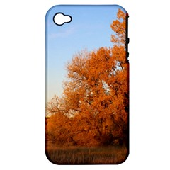 Beautiful Autumn Day Apple Iphone 4/4s Hardshell Case (pc+silicone) by trendistuff