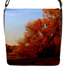 Beautiful Autumn Day Flap Messenger Bag (s) by trendistuff