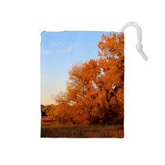 Beautiful Autumn Day Drawstring Pouches (medium)  by trendistuff