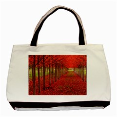 Avenue Of Trees Basic Tote Bag (two Sides)