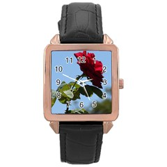 Red Rose 2 Rose Gold Watches by trendistuff