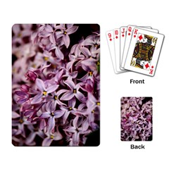 Purple Lilacs Playing Card by trendistuff