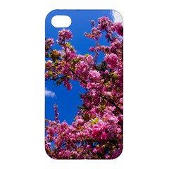 Pink Flowers Apple Iphone 4/4s Hardshell Case by trendistuff