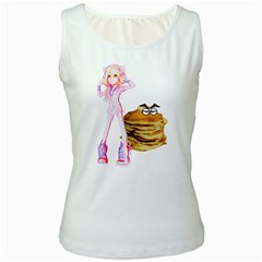 Mal Girl And Mr Pancake Women s Tank Tops