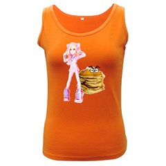 Mal Girl And Mr Pancake Women s Dark Tank Tops