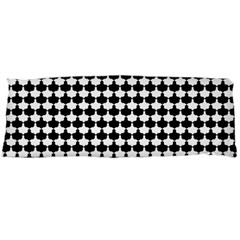 Black And White Scallop Repeat Pattern Body Pillow Cases (dakimakura)  by PaperandFrill