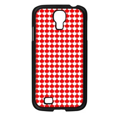 Red And White Scallop Repeat Pattern Samsung Galaxy S4 I9500/ I9505 Case (black)