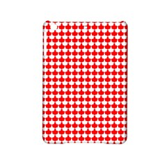 Red And White Scallop Repeat Pattern Ipad Mini 2 Hardshell Cases by PaperandFrill