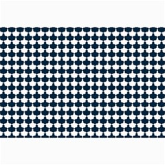 Navy And White Scallop Repeat Pattern Collage 12  X 18