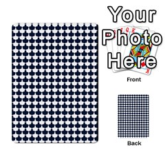 Navy And White Scallop Repeat Pattern Multi Purpose Cards (rectangle)