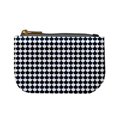 Navy And White Scallop Repeat Pattern Mini Coin Purses