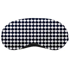 Navy And White Scallop Repeat Pattern Sleeping Masks