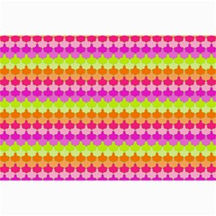 Scallop Pattern Repeat In 'la' Bright Colors Collage 12  X 18  by PaperandFrill