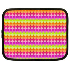 Scallop Pattern Repeat In 'la' Bright Colors Netbook Case (xxl)  by PaperandFrill