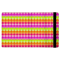 Scallop Pattern Repeat In 'la' Bright Colors Apple Ipad 2 Flip Case by PaperandFrill