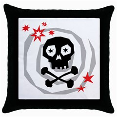 Spiral Skull Throw Pillow Cases (black)