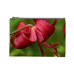 Lilium Red Velvet Cosmetic Bag (large)  by trendistuff