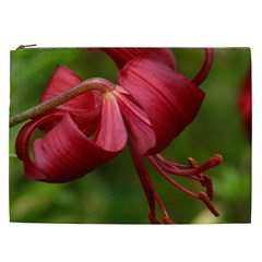 Lilium Red Velvet Cosmetic Bag (xxl)  by trendistuff
