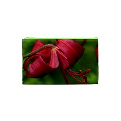Lilium Red Velvet Cosmetic Bag (xs) by trendistuff