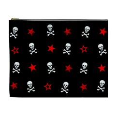 Stars, Skulls & Crossbones Cosmetic Bag (xl) by waywardmuse