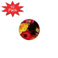 Bunch Of Flowers 1  Mini Buttons (10 Pack)  by trendistuff