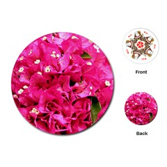 Bougainvillea Playing Cards (round)  by trendistuff