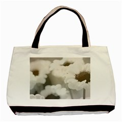 Black And White Flower Basic Tote Bag  by trendistuff