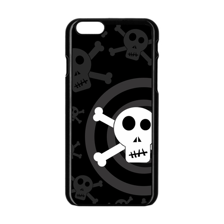 Skull & Crossbones Apple iPhone 6/6S Black Enamel Case