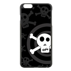 Skull & Crossbones Apple Iphone 6 Plus/6s Plus Black Enamel Case