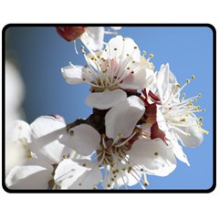 Apricot Blossoms Double Sided Fleece Blanket (medium)