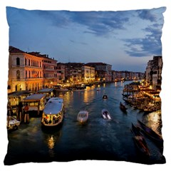 Venice Canal Large Cushion Cases (one Side)  by trendistuff