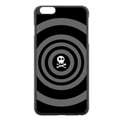 Cute Skull Apple Iphone 6 Plus/6s Plus Black Enamel Case by waywardmuse