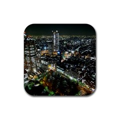 Tokyo Night Rubber Square Coaster (4 Pack)