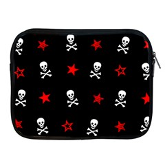 Stars, Skulls And Crossbones Apple Ipad 2/3/4 Zipper Cases