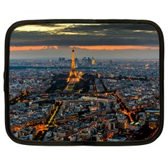 Paris From Above Netbook Case (large) by trendistuff