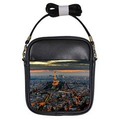 Paris From Above Girls Sling Bags by trendistuff