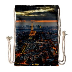 Paris From Above Drawstring Bag (large) by trendistuff