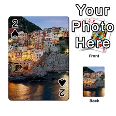 Manarola Italy Playing Cards 54 Designs