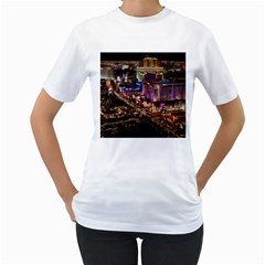Las Vegas 2 Women s T-shirt (white) (two Sided) by trendistuff