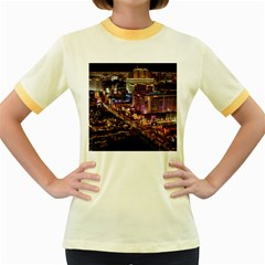 Las Vegas 2 Women s Fitted Ringer T-shirts by trendistuff