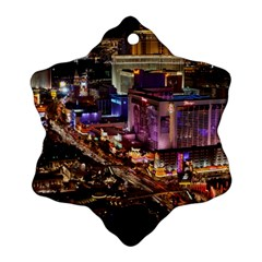 Las Vegas 2 Snowflake Ornament (2 Side) by trendistuff